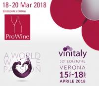 ProWein e Vinitaly 2018